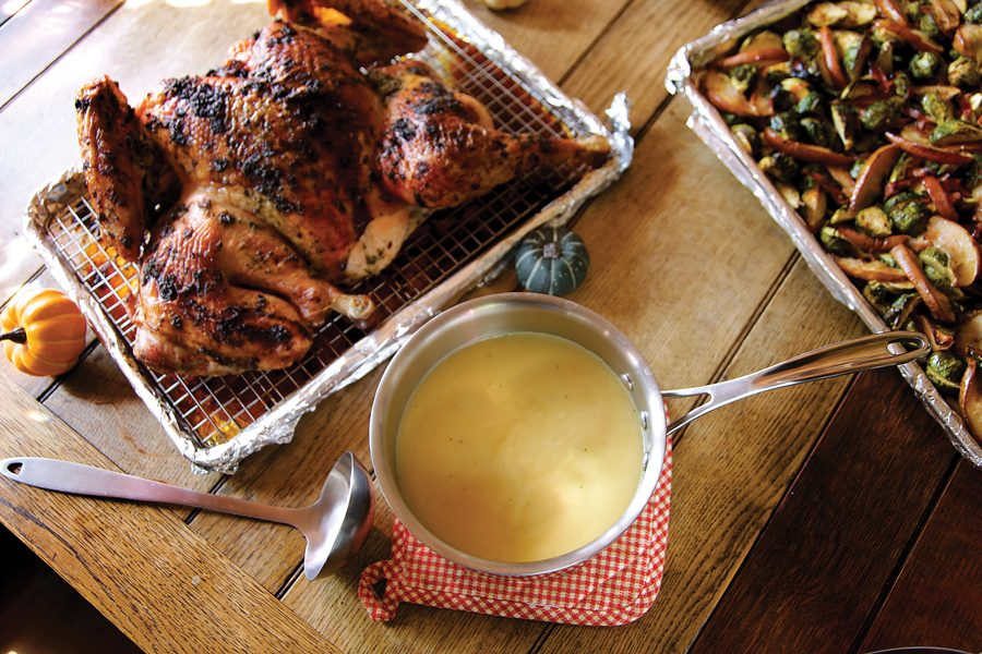 A Thanksgiving meal. Northwestern's QuestBridge chapter offers a Thanksgiving dinner for students who stay on campus over the break.
