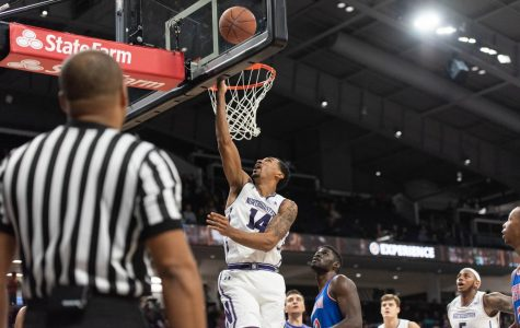 Men's Basketball: Northwestern bounces back in Wooden tournament, handles La Salle
