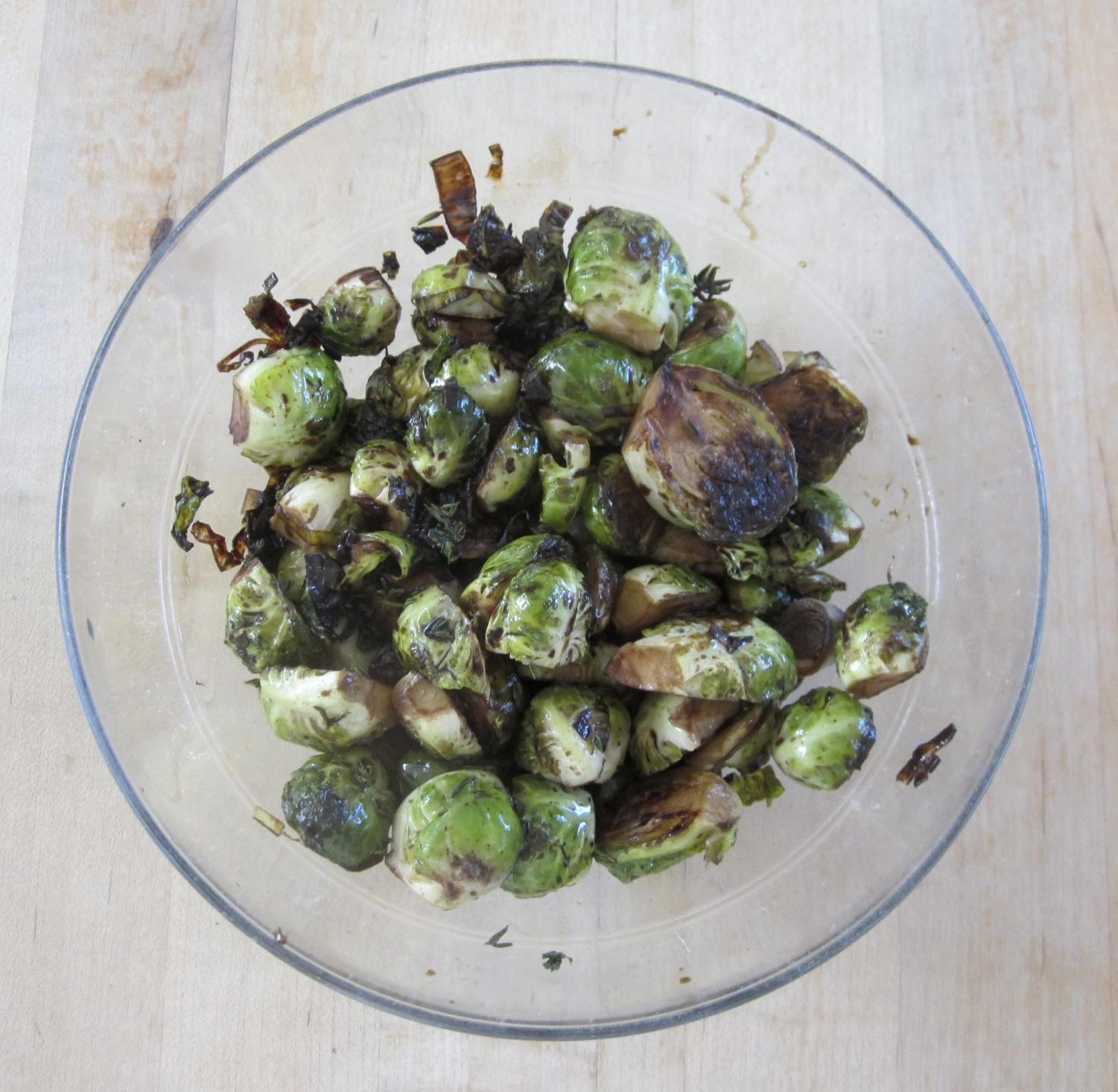 Sauteing and then roasting Brussels sprouts brings out their sweetness in this puff pastry tart recipe.