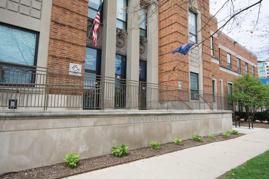 Evanston Police Department, 1454 Elmwood Ave. A former Evanston police detective was accused of assisting the Organización de Narcotraficantes Unidos by providing firearms.