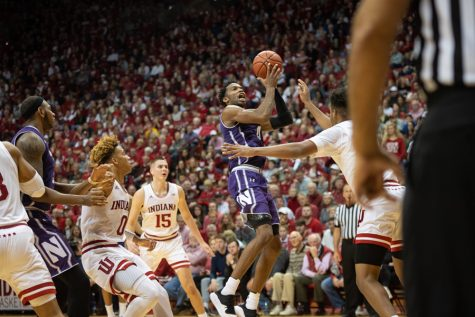 Men's Basketball: Northwestern comes up just short in conference opener at Indiana