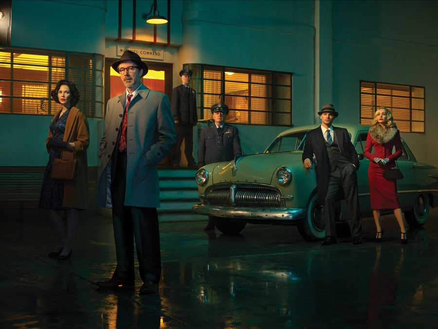 """Aidan Gillen as Dr. J. Allen Hynek in sci-fi TV series """"Project Blue Book."""" The show revolves around Hynek's research on UFOs for the United States Air Force."""