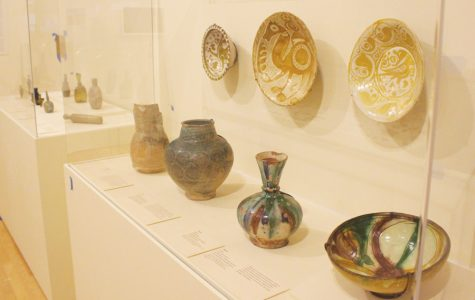 "Ceramic vases, among other African artifacts, are on display in ""Caravans of Gold, Fragments in Time: Arts, Culture and Exchange Across Medieval Saharan Africa."" The exhibition opens this Saturday and will be at The Block Museum of Art through July 21."