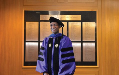 Lawrence Crosby receives his PhD from McCormick. Crosby settled a lawsuit with Evanston two years after his violent arrest by Evanston Police Department officers.