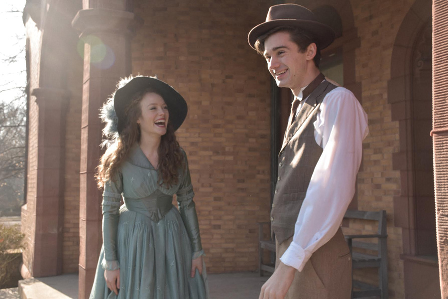 """Actors Holly Hinchliffe and Rory Schrobilgen pose at the Charles Gates Dawes House in Evanston. Hinchliffe and Schrobilgen will take the Cahn Auditorium stage in """"Hello, Dolly!"""" Jan. 25 through Feb. 2."""