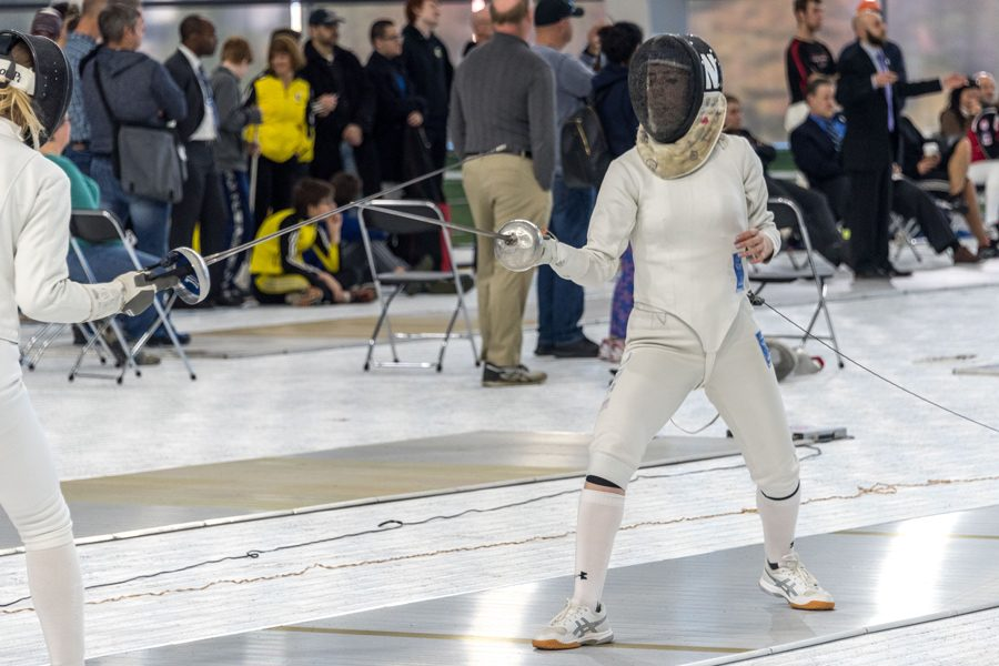 A+Northwestern+fencer+fences.+The+Wildcats+hope+to+go+undefeated+this+weekend.