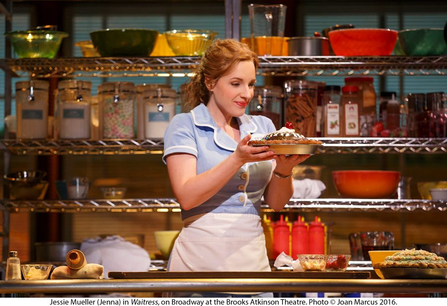 "Jessie Mueller stars in Broadway's ""Waitress"" in 2016.  Mueller graduated from Evanston Township High School in 2001 and went on to make a name for herself in the Chicago theater community and on Broadway."