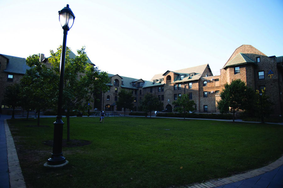 The fraternity quad. Three fraternities and two additional student organizations have been suspended by the University in the past two years.