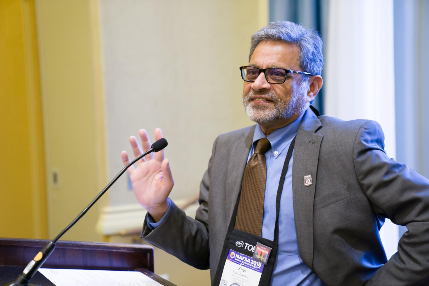 Ravi Shankar, director of Northwestern's International Office. Shankar will assume the role as president and chairman of the board of directors at NAFSA.