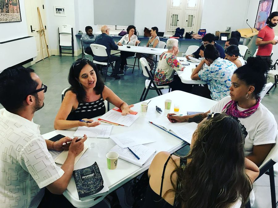The 10 emerging artists and their mentors workshops their projects in preparation for their visit to Northwestern. NU kicked off a two-year arts development project in Puerto Rico last August following a pair of devastating hurricanes that hit the island