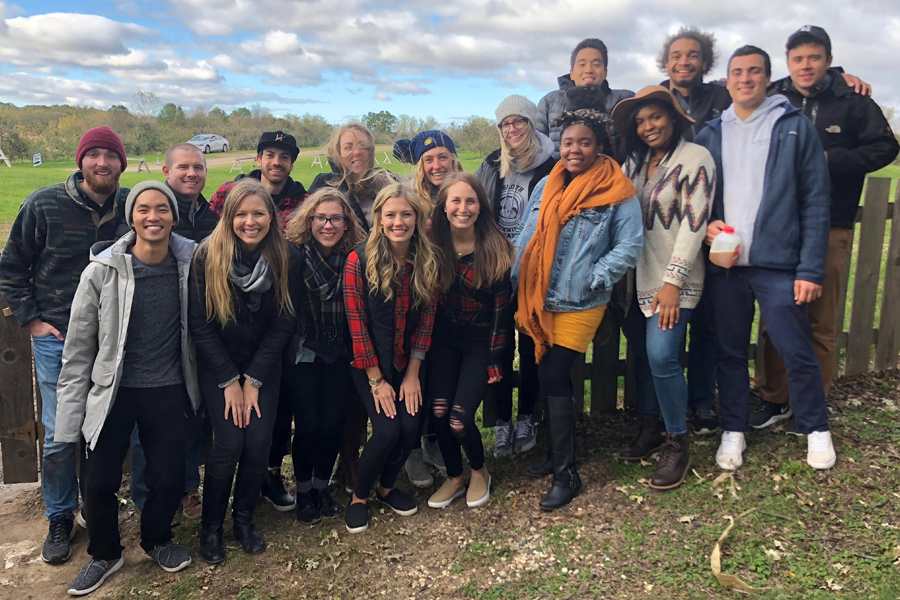 Northwestern Young Life leaders on a retreat. The students lead Bible studies as well as meet up with high school students to hang out and form relationships.