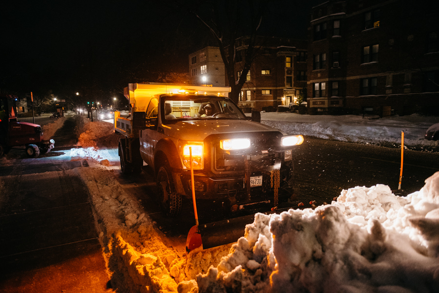 A+snow+plow+clears+snow+from+Ridge+Avenue.+City+officials+are+preparing+for+the+sub-zero+temperatures+coming+on+Tuesday
