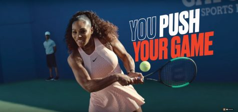 Serena Williams sports sweat patch designed by Northwestern researchers in a Gatorade ad