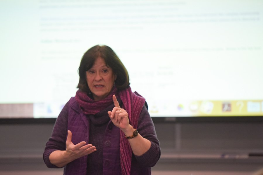 Medill Prof. Patty Loew. Loew is creating a tour of Northwestern and Evanston to educate students and Evanston community members about the area's indigenous people.