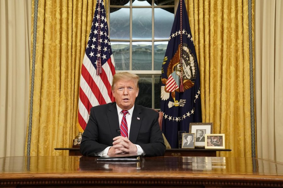 President Donald Trump speaks to the nation Tuesday night in a prime-time address from the Oval Office of the White House. U.S. Rep. Jan Schakowsky criticized his speech.