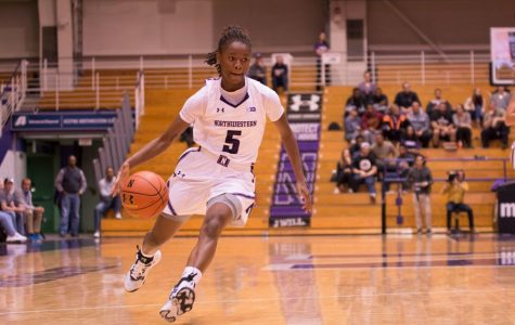 Jordan Hankins plays in a game in 2016. The mother of the former NU basketball player filed a complaint against Alpha Kappa Alpha and 11 others Tuesday.