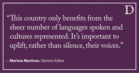 Martinez: Stop silencing multilingual people