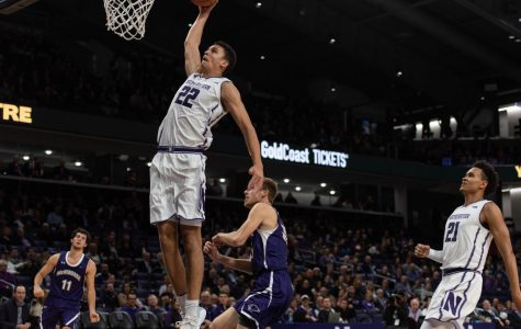 Pete Nance elevates above the rim. The freshman forward is out indefinitely.