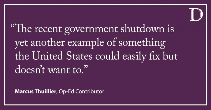 Thuillier: The government shutdown was a useless self-inflicted wound