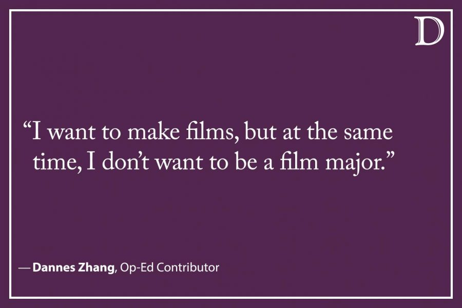 Zhang: I don't major in RTVF for the classes