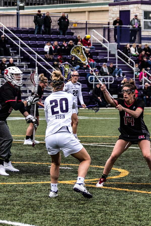 Emily Stein operates in the midfield. She helped lead Northwestern to its comeback victory Sunday.