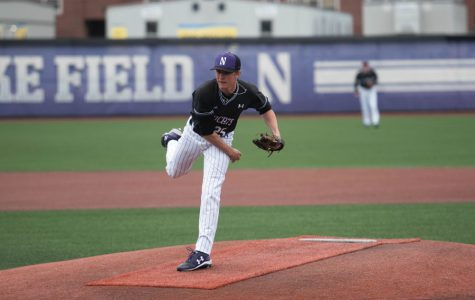 Hank Christie works on the mound. The junior will be NU's ace in 2019.