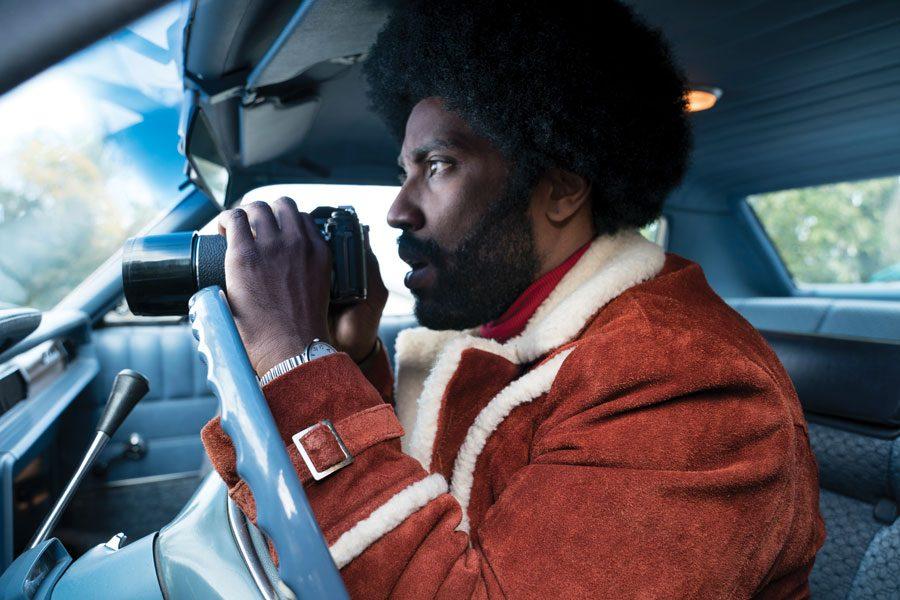 "John David Washington stars as Ron Stallworth in Spike Lee's ""BlacKkKlansman."""