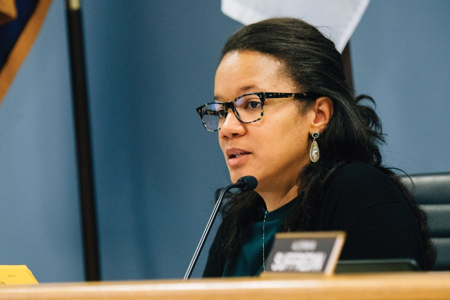 Ald. Robin Rue Simmons at a City Council meeting Monday. Rue Simmons wants to put policy behind CARP and garner support from Evanston's business and service community for the plan.