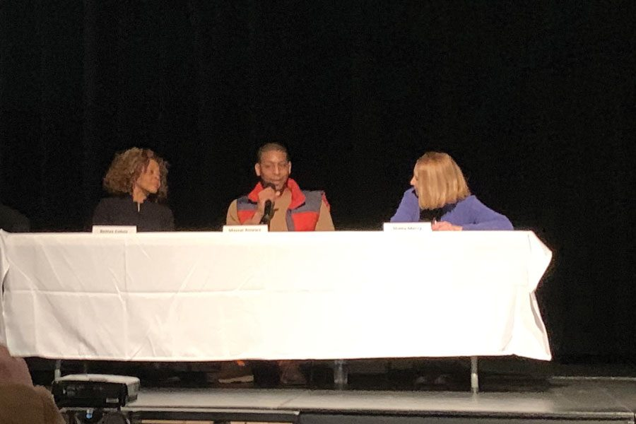 A panel discusses a documentary about fatherhood. Family Focus hosted an event about empowering fathers in community spaces.