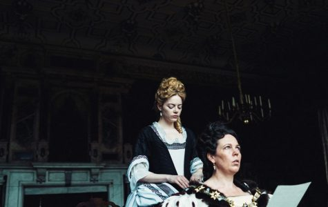 """Emma Stone and Olivia Colman in """"The Favourite,"""" directed by Yorgos Lanthimos."""