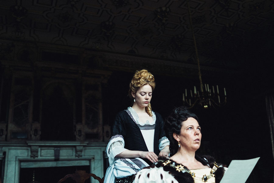 "Emma Stone and Olivia Colman in ""The Favourite,"" directed by Yorgos Lanthimos."