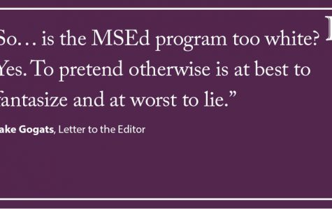 LTE: The Master of Science in Education program is too white