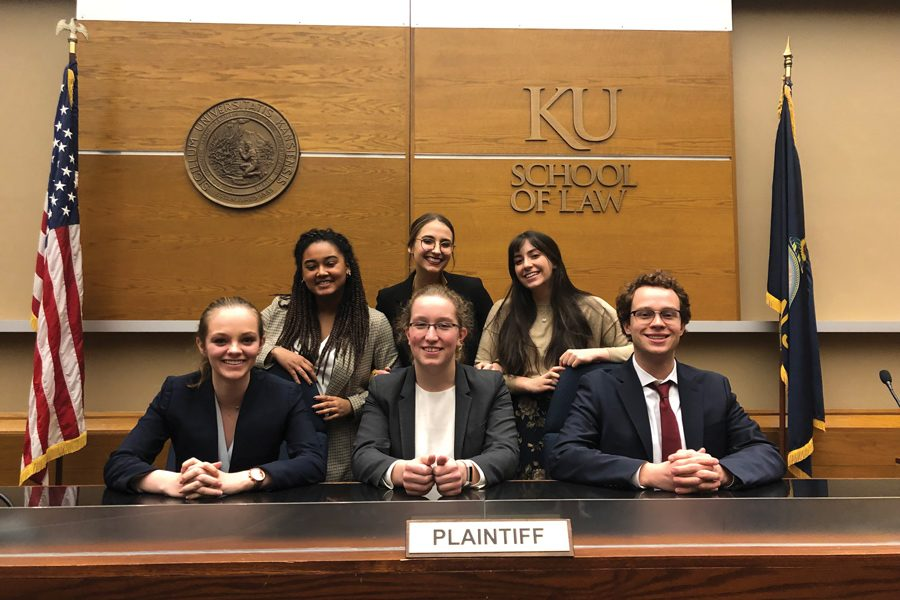 Northwestern+Mock+Trial+poses+at+a+tournament.+The+group+qualified+two+teams+for+the+Opening+Round+Championship+Series+Tournament%2C+despite+drastic+funding+cuts+following+the+University%E2%80%99s+budget+deficit