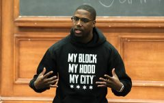 Nonprofit founder Jahmal Cole encourages students to step outside their comfort zones at NCDC event