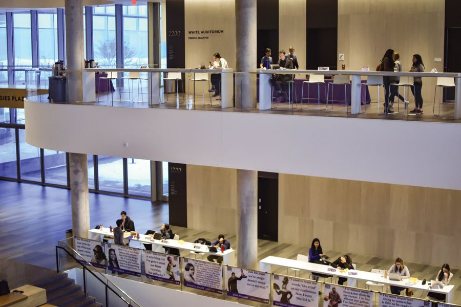 Inside the Kellogg Global Hub. 2U, Inc. will team up with the University to provide online courses on business and leadership skills.