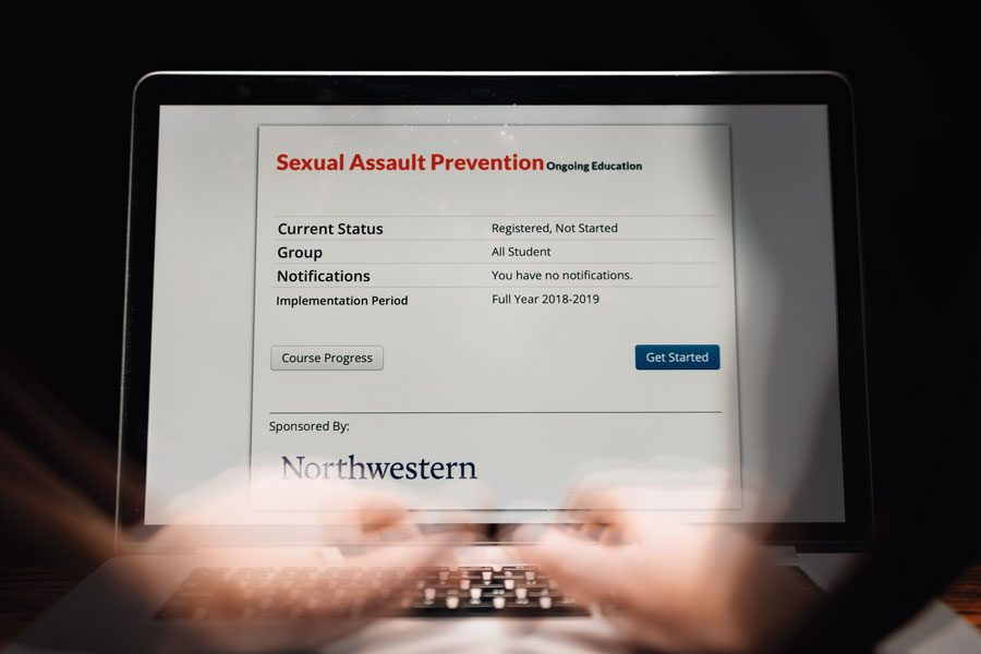 The University's new sexual assault prevention training. The Office of Equity rolled out the training in January.