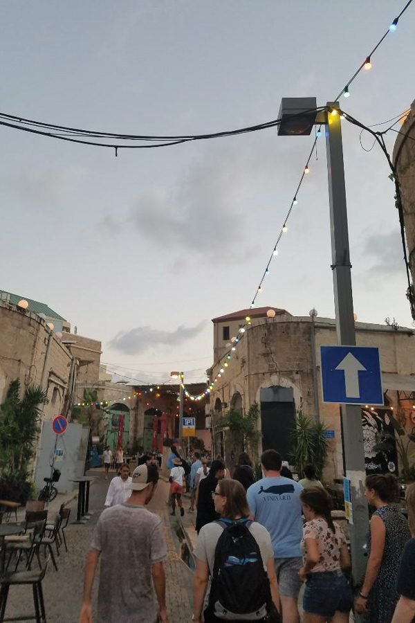 Students on the NU Perspectives trip walk through the streets of Old Jaffa, Israel. Students were able to engage with both Israelis and Palestinians this summer through the Northwestern Hillel offering.