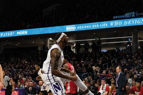 Men's Basketball: Pardon and Law spark NU offense in loss to Wisconsin