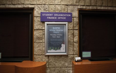 The Student Organization Finance Office Window in Norris University Center. A committee, named the SOFO Digital Workflow Committee, was formed to examining the current paper process for finances and suggesting solutions for a new digital workflow.