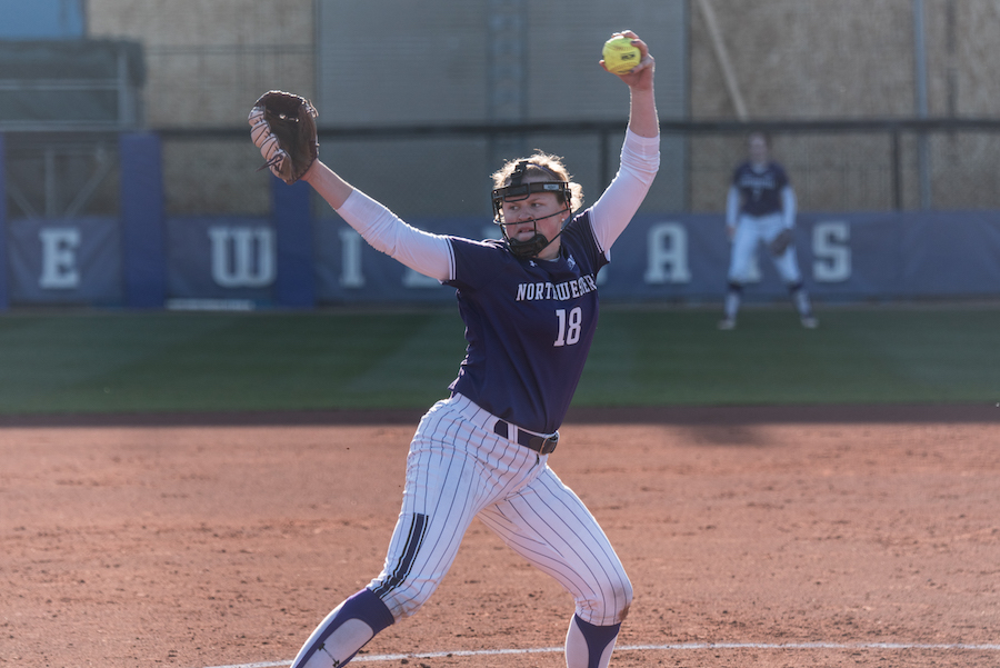 Morgan Newport goes into her windup. The junior and the rest of the Cats' pitching staff have performed well so far this season.