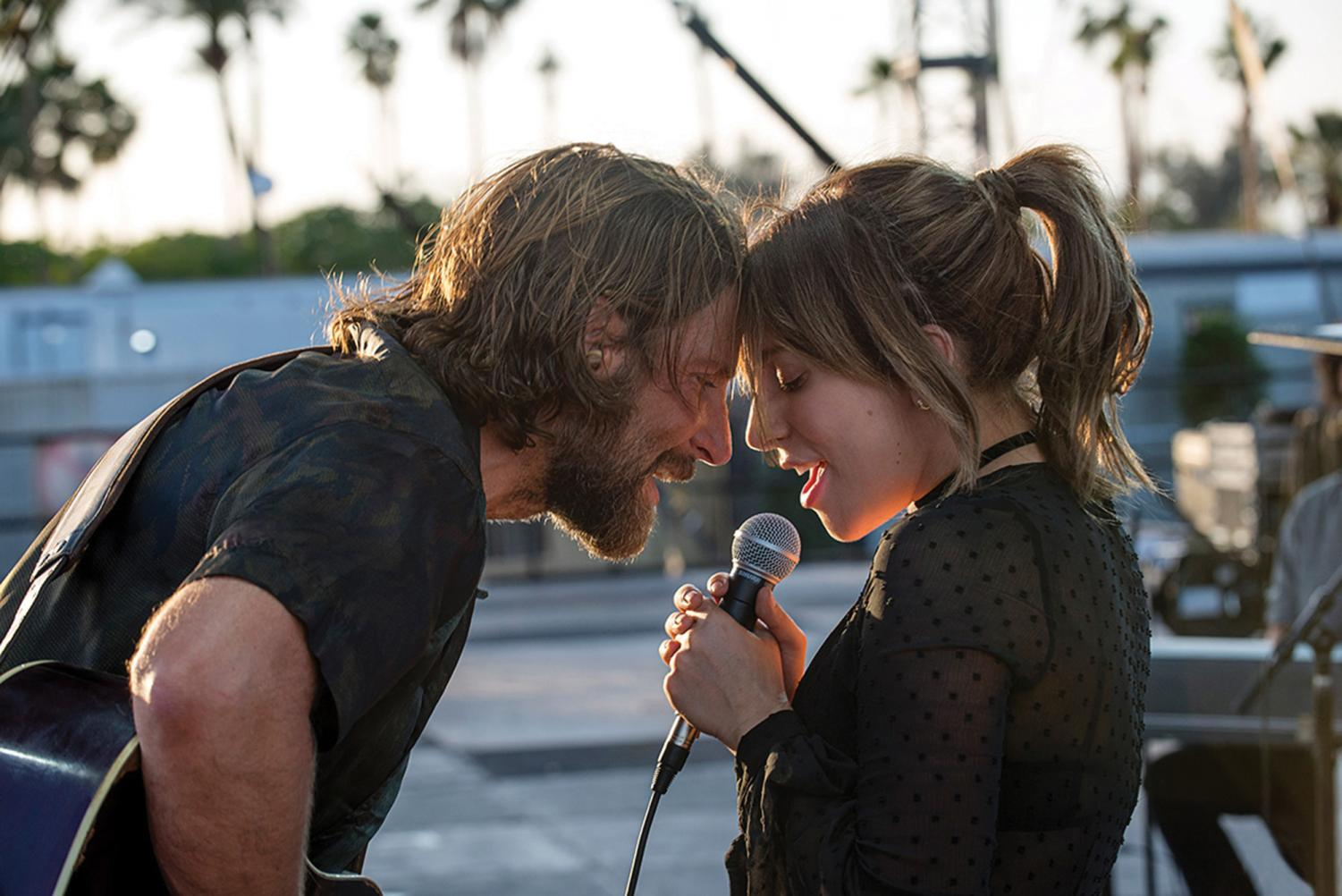 "Bradley Cooper and Lady Gaga sing ""Shallow"" in one of the film's climactic moments."