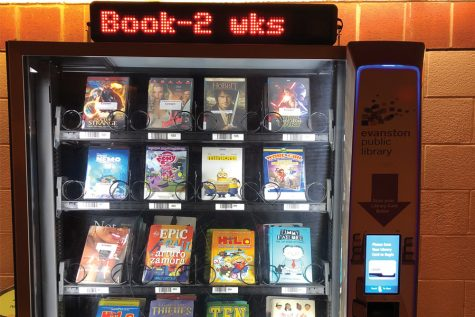 Books and movies vending machine at Robert Crown previews new library