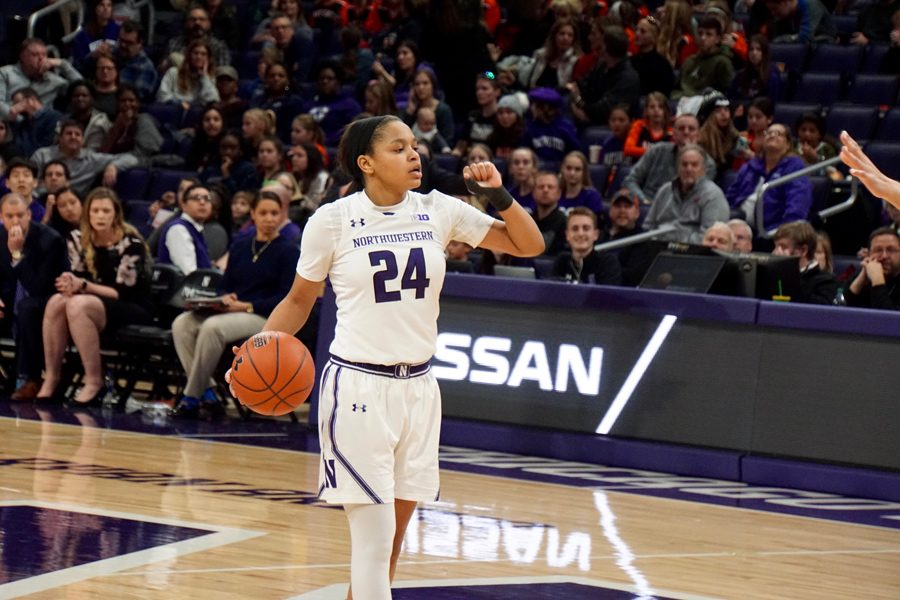 Jordan Hamilton runs the offense. The sophomore guard had 12 points in NU's win over Penn State on Thursday.