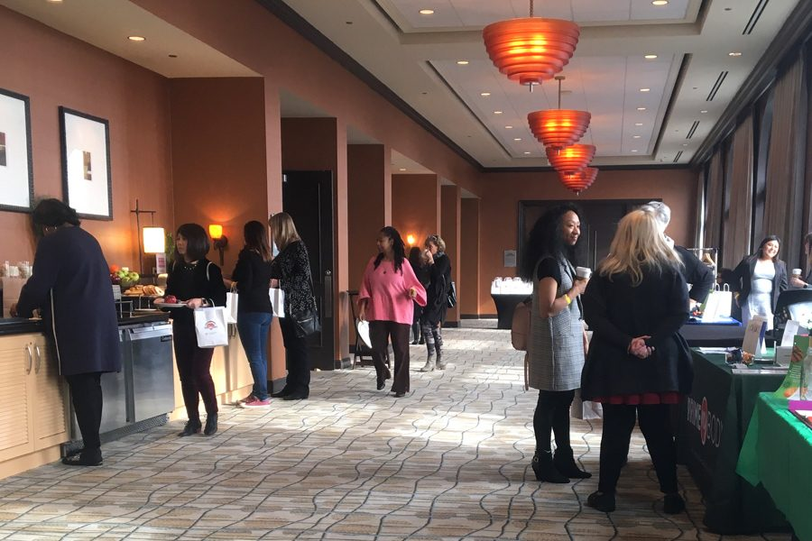 Women gather at the Hilton Orrington, 1710 Orrington Ave., for the Empowering Women Conference & Expo. The event equipped women with resources and tools through speaker-led seminars to have a voice in the business community