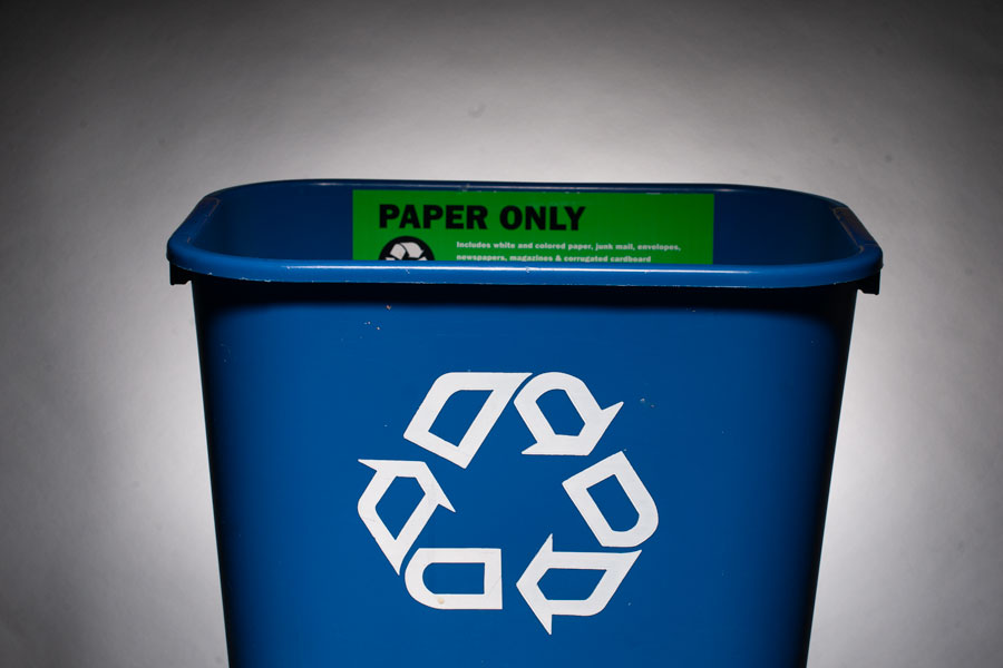 A recycling bin. Following the elimination of a University-sponsored sustainability fund, Associated Student Government is pushing to set up a similar one using its own money.