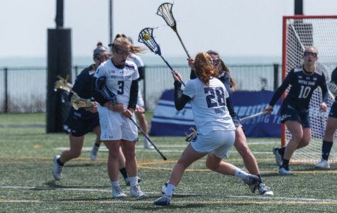 Claire Quinn makes a pass. The Wildcats play No. 1 Boston College this weekend