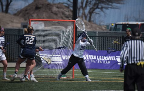 Julie Krupnick goes for a save. The Wildcats' goalie gave up a .235 save percentage this weekend