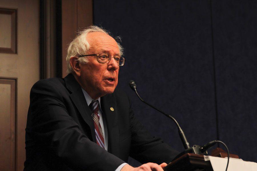 Bernie+Sanders+speaks+in+the+U.S.+Capitol+in+early+2018.