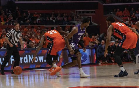 Men's Basketball: Northwestern handles Illinois press as well as anyone, commit only eight turnovers