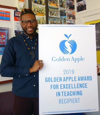 ETHS teacher wins Golden Apple Award